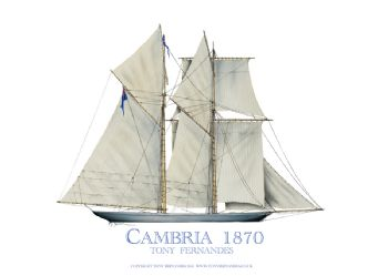 1870 Cambria - signed print